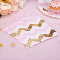 Pattern Works Pink Chevron Napkins (16)
